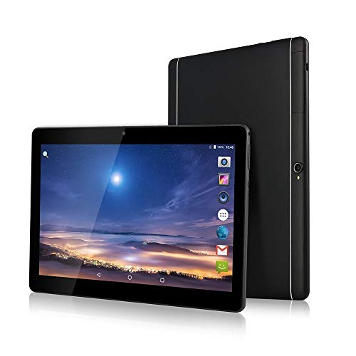 "10.1"" pollici Tablet Android 8.1 Octa Core 4 GB RAM 64 GB ROM 3G Phablet con WiFi GPS Bluetooth Netflix Google Play (Nero)"