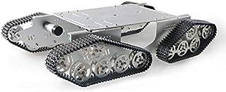 شاسی اتومبیل مخزن بزرگ ربات بزرگ ، سکوی متحرک ربات ، پلت فرم موبایل وسیله نقلیه ردیابی کاترپیلار فلزی 4WD با موتور DC با گشتاور بالا 4 قطعه با رمزگذار ، برای مانیتور از راه دور AR / VR