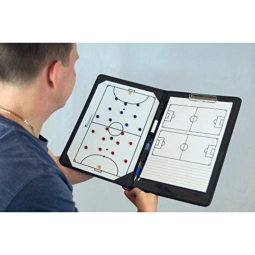 Precision K-REY-TR825 Pro-Carpeta táctica para Entrenadores de fútbol Sala, Unisex, Negro, Talla única
