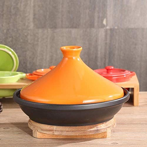Jooyouo-TH Casserole keramische dubbele oor Casserole keramische steelpan zeevruchten Hot Pot gestoomde rijst stoofpot koken Pan-B_20Cm