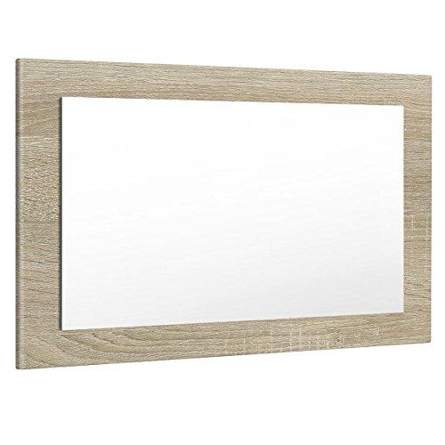 Vladon Spiegel Wandspiegel Lima 89cm in Eiche sägerau