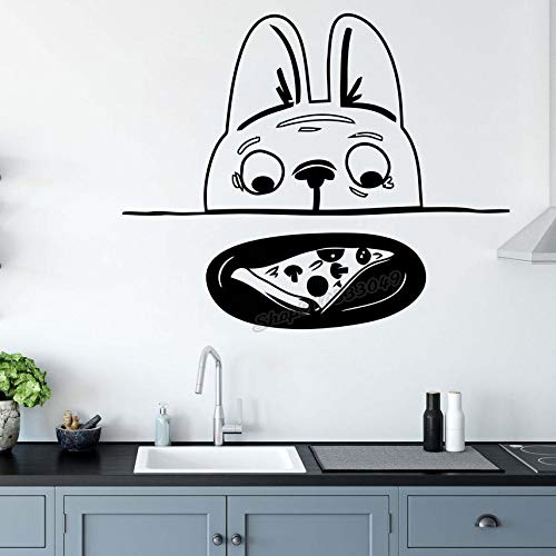 Blrpbc Pegatinas de Pared Adhesivos Pared Cocinero de Cocina El corazón del hogar Decoración de Cocina Cocina Cocina Pizza para decoración de Cocina Calcomanía de Vinilo 84x70cm