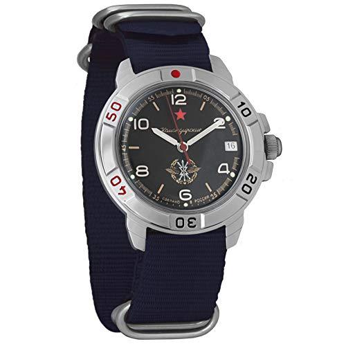 Vostok Komandirskie Classic Mens mecánico cuerda militar reloj #296