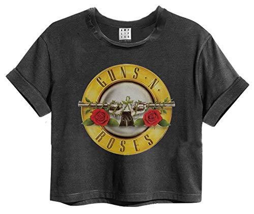Amplified Guns N Roses Bullet Logo Womens Cropped T-Shirt (X-Large)