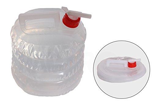 Collapsible Water Jug (5 Quarts/1.25 Gallon) Camping, Hiking, Hunting, Fishing, Climbing, Emergency & Disaster Kits - Water Shut Spout …