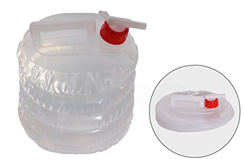 Zusammenklappbarer Wasserkrug (5 Quartett/5 Liter) für Camping, Wandern, Jagen, Angeln, Klettern, Notfall- und Notfall-Kits – Wasserabsperrung