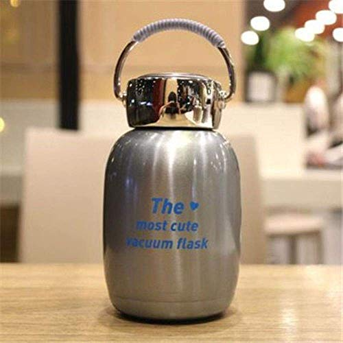 Mini Cute Thermo Cup 304 Stainless Steel Water Bottle Mug Kawaii Thermal Vacuum Student Thermo Cup with Handle,6,230ml HMP (Color : 7, Size : 230ml)