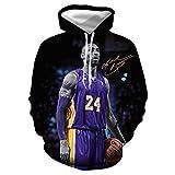 GEZIBABA 3D Jersey De Hombre Sudadera con Capucha De La Camiseta con Capucha NBA Lakers Kobe Bryant Cómoda Camiseta Deportiva T-Shirt De Baloncesto-A_6XL