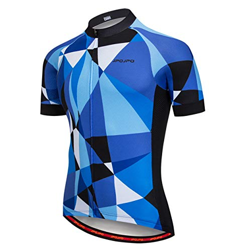 PSPORT Camiseta de ciclismo para hombre, de manga corta, transpirable, de secado rápido