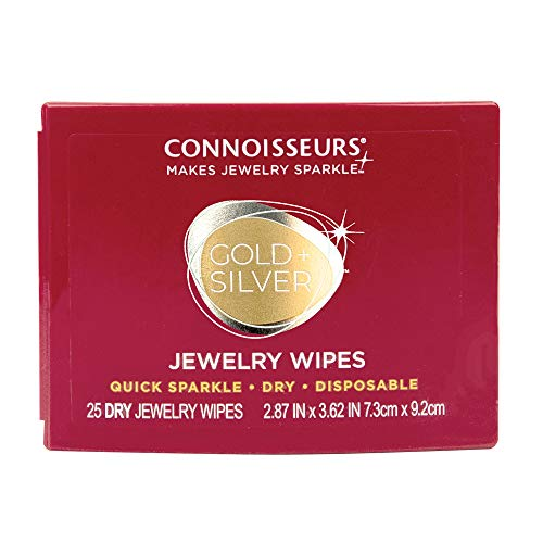 Connoisseurs Jewelry Wipes Jewely Cleaner, Silver 25 Count
