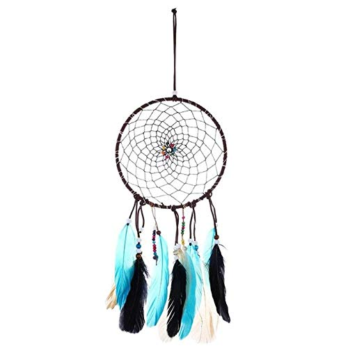 DGDHSIKG Wind chimes Wind chimes dream catcher feather string lights net decorations home wall hanging gifts home decoration,05