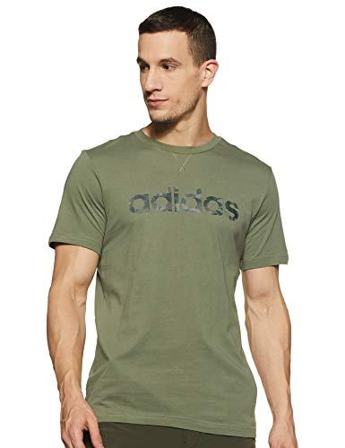 adidas E Camo Lin tee T-Shirt, Mens, Legacy Green/Black/Legend Ivy/Pantone, Small