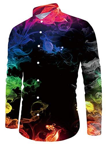 Funnycokid Jugendliche Boy Shirt Druck Button Down Cool Designed Hiking Wear Herren Hemd