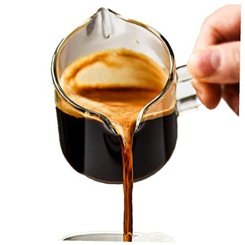 Nicetruc 4 oz de Cristal Creamer, Jarra de Leche, vertedor, Lanzador Jarro, Cerámica Regalo de Bienvenida para los Amantes del té de café