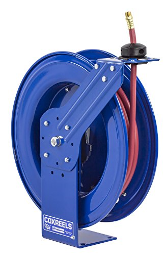 "Big Sale Best Cheap Deals Coxreels Heavy-Duty Self-Retracting Air/Water Hose Reels, 3/8"" Hose ID, 50' Length"