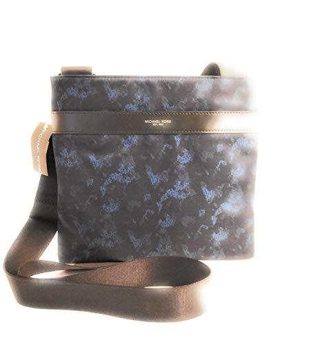 Michael Kors Crosbody Herren Tasche schwarz und blau Nylon 27x25x2.5cm neu