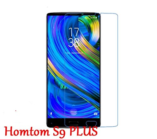 INSOLKIDON 2-Pack Compatible with HomTom S9 Plus Tempered Glass Film Full Cover Ultra Thin Ultra Clear 3D Premium Screen Protector Protective Glass (Transparent)