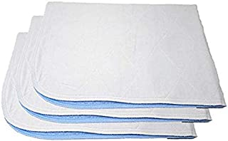 Premium Incontinence Washable Bed Pad - Heavy Duty Reusable Cotton Quilted Underpad - 24