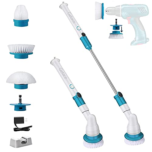 Getace Electric Spin Power Scrubber,360 Cordless Bathroom Scrubber with 7.4V Super Battery,3 Replaceable Cleaning Shower Scrubber Brush Heads,Extension Handle for Tub,Tile, Floor, Wall,Shower, Bathtub