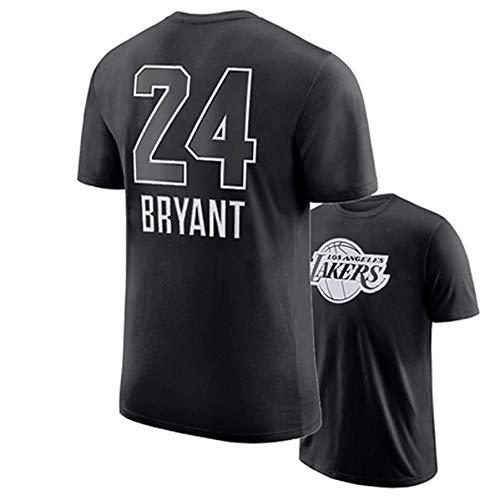 Camiseta De Baloncesto para Hombre, Retro Los Angeles Lakers # 24 Kobe Bryant Moda Juvenil Ropa Deportiva De Manga Corta Swingman Top,Black b,3XL