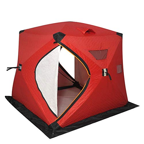 TWDYC 3-4 Person Use Winter Fishing Ice Plus Cotton Outdoor Thick Warm Ultralarge Camping Dressing Bathing Toilet Tent (Color : B)