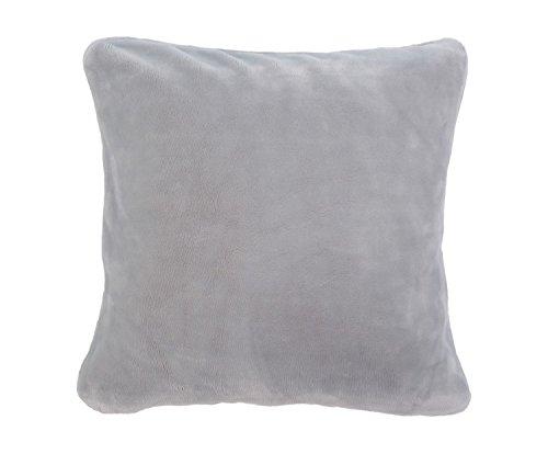 Gözze 17 Premium Cashmere Feeling - Cojín con Relleno (50 x 50 cm), Color Plateado