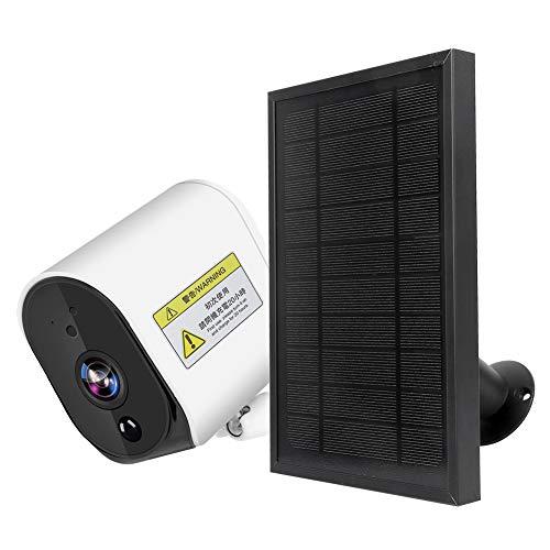 Cámara Solar Inalámbrica WiFi Intercomunicador CCTV IP65 Cámara De Audio Bidireccional Impermeable con ángulo Amplio De 104 Grados para Control De Voz Alexa