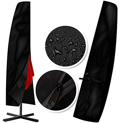 KESSER® Schutzhülle Schirmhaube Abdeckung für Sonnenschirm Schutzhülle Polyester Haube Ø300cm