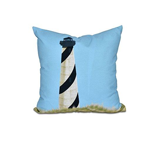E by design - Almohada (40,6 x 40,6 cm), diseño geométrico, Color Azul