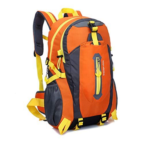 Motorhelay Sports Plein air en Nylon imperméable Voyage Randonnée Sac Respirant Unisexe escalaSport Sac à Dos Orange 30-40L