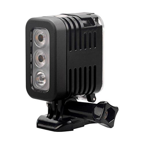 balikha 30m 280 LM Luz de Relleno de Video de Buceo Lámpara LED para Cámara de Acción/Sicam