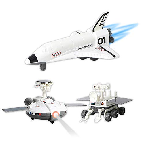 Zerodis 3 in 1 Astronave Assemblata Gocattoli Montaggio Kit Esplorazione Spaziale Energia Solare Kid Fai da Te Apprendimento Scienza Giocattolo Educativo Inizia Il Lavoro Gioca