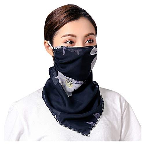 URIBAKY Bedruckte Multifunktionstuch Gesichtsmaske Atmungsaktiv Schlauchtuch Damen Halstuch Schutzmasken,Schlauchschal Outdoor UV Staubschutz Mund-Tuch Motorrad Fahrrad Joggen Schal