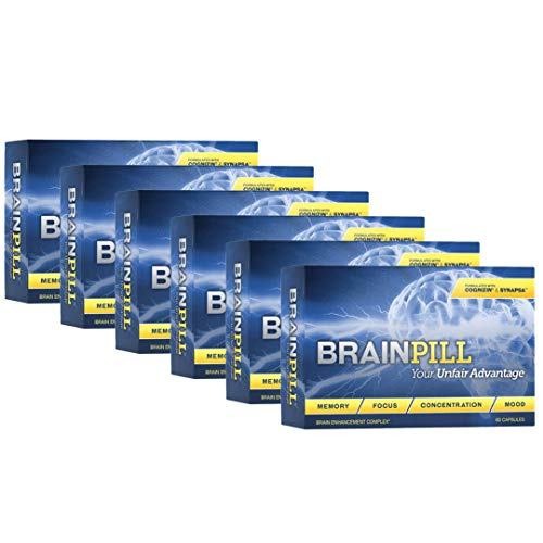 Brain Pill with Cognizin and Synapsa Makes a Powerful Brain Supplement to Boost Memory, Concentration, Focus, Mood, and Manage Stress and Anxiety by Leading Edge Health (6 Boxes)