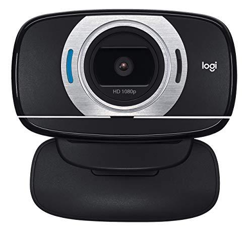 Logitech HD Laptop Webcam C615 with Fold-and-Go Design, 360-Degree Swivel, 1080p Camera(Renewed)