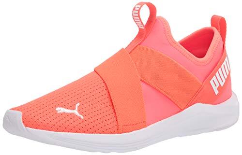 PUMA Women's Prowl Slip On Cross Trainer Sneaker, Fiery Coral White, 7.5