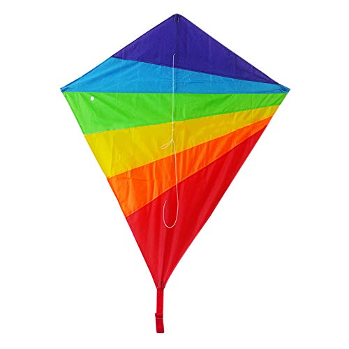 Abilieauty Cometa rombica para niños, Kit de Arco Iris, Ideal para Playa, Verano, al Aire Libre, Juguete de Nailon Duradero