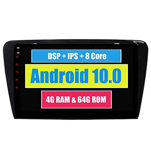RoverOne 10,2 Pouces Système Android Octa Core pour Skoda Octavia 2014 2015 2016 2017 Lecteur multimédia de Voiture avec autoradio stéréo Radio de Navigation GPS Bluetooth Mirror Link écran Tactile