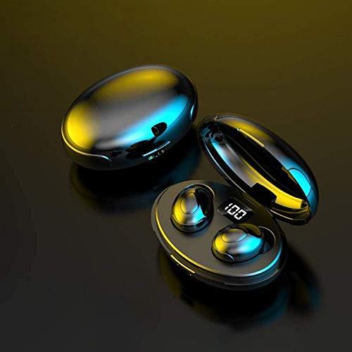 Huahua Auriculares InaláMbricos,Auriculares Bluetooth 5.0 Mini TWS Cascos In-Ear,HD Sonido EstéReo,Control Tactil,Pantalla Led,con Estuche De Carga Type-C