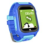 Kids GPS Tracker Smartwatch Phone, Students Waterproof Watch with 2 Way Calls WiFi GPS Locator SOS Voice Chat Camera Alarm Clock Watches Birthday Gifts for Boys Girls Compatible with iOS Android ,Blue