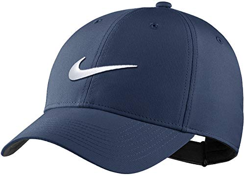Men's Nike Dri-FIT Tech Golf Cap, Midnight Navy(AQ5349-410)/White, One Size