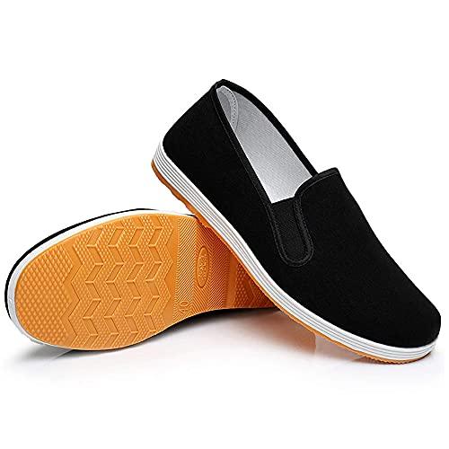 Scarpe Kung Fu, Scarpe Arti Marziali Tai Chi, Pantofole per Tai Chi, Pantofole Chiuse, Cinese Tradizionale di Pechino Scarpe Kung Fu Tai Chi, Suola in Gomma Unisex Giallo (Numeric_42)