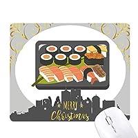 日本の伝統的な寿司ボックス クリスマスイブのゴムマウスパッド