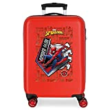 Marvel Spiderman Great Power Maleta de Cabina Rojo 38x55x20 cms Rígida ABS Cierre de...