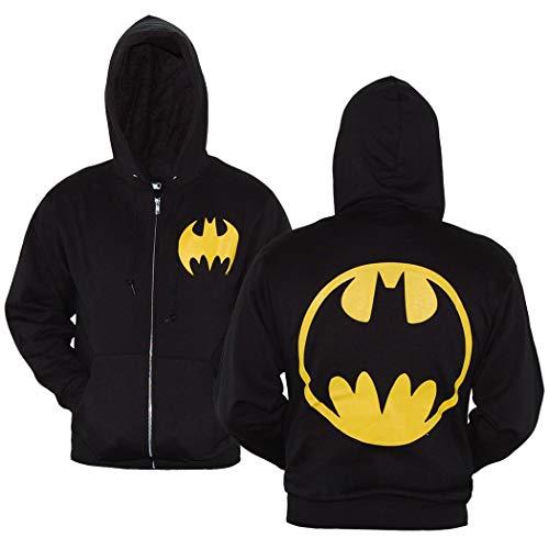 DC Comics Batman Symbol Zip-Up Hoodie-Large Black