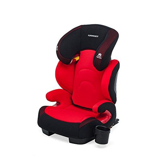 Foppapedretti Best Duofix Seggiolino Auto, Rosso, Gruppo 2-3 (15-36kg), per bambini da 3 a 12 anni circa