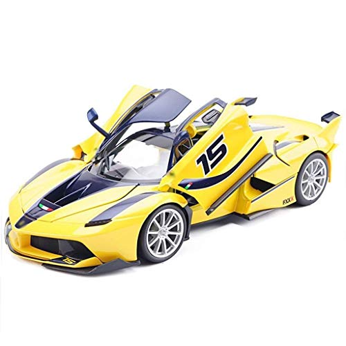 XINZ-BYT Juguete Ferrari Modelo Car FXX K-15 Modelo 1:18 Aleación de simulación Adorno de automóviles de automóviles de Juguete de aleación Modelo de Juguete