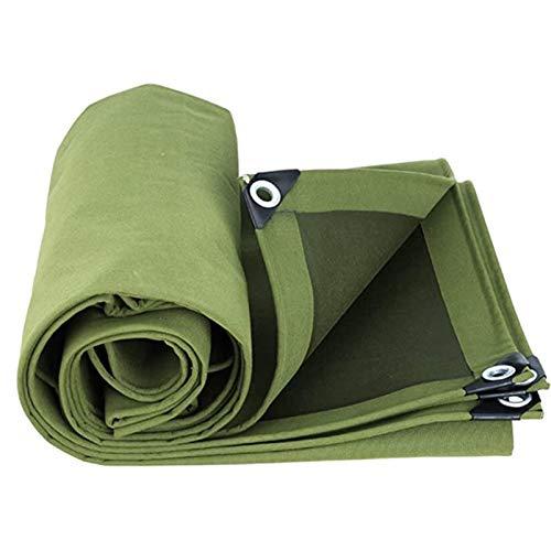 QIAOH Lona Impermeable 4X8m, Lona De Protección Lona Impermeable Exterior, Lona Impermeable De PE para Leña Y Objetos De Jardín, Vehículos, Protección contra UV