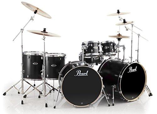 Pearl EXL EXL727/C256 Doppel-Bassdrum-Set, mattes Satinschwarz
