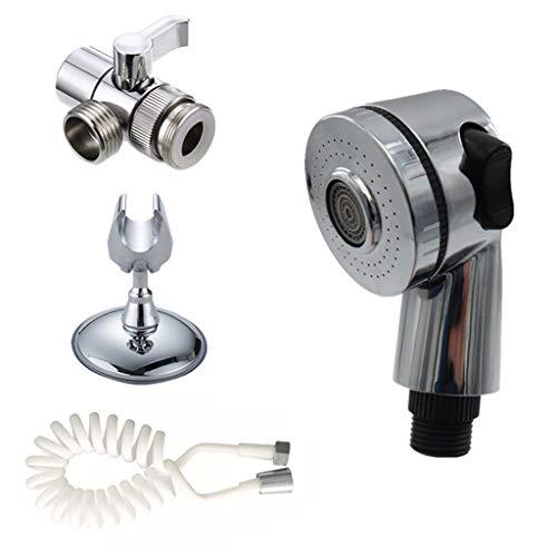 ZJL220 - Juego de 1 grifo para ducha o baño con pulverizador para desagües, filtro para manguera de fregadero, lavado de ducha